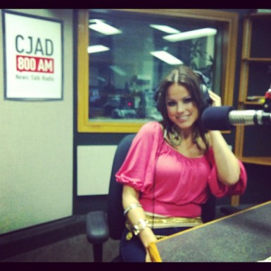 """Marina Love on Air with Zan Perrion on Dr. Laurie Betito's show """"Passions"""" in summer of 2012"""